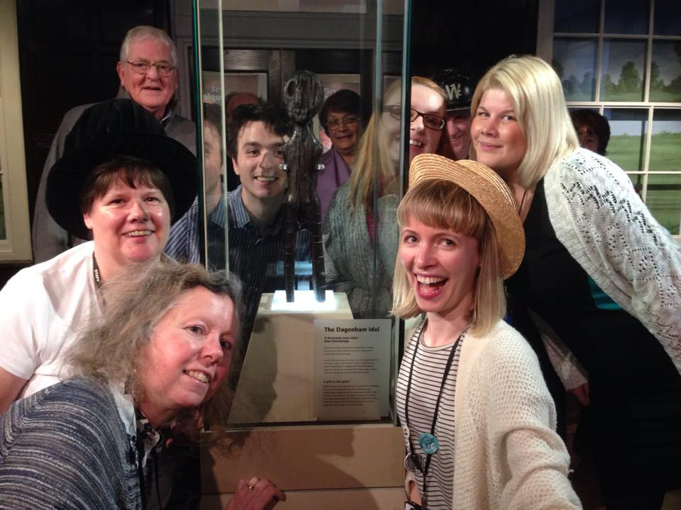 Valence House staff and volunteers pose with the Dagenham Idol