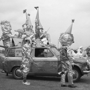 People dressed up as aliens at the Dagenham Town Show in 1966
