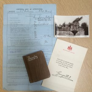 The papers of Henry Sidney Williams, a soldier in World War One