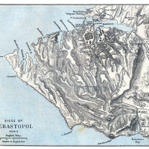 Map of the Siege of Sebastopol