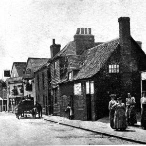 the Post Office and the Bull Inn on Bull Lane, Dagenham in 1914
