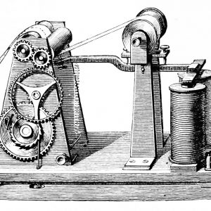 Diagram of an electric telegraph
