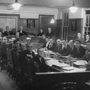 Dagenham council meeting at Valence House circa 1931