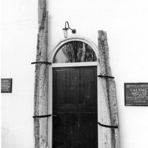 Whalebones flanking front door at Valence House in 1969