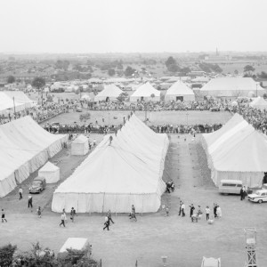 Tents at the Dagenham Town Show in 1966