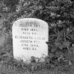 Elizabeth Fry's Headstone taken in 1972