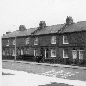 The home of Annie Clara Huggett in King Edward Road, Barking circa 1970