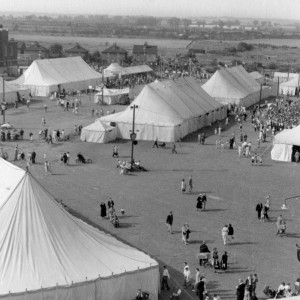 Tents at the Dagenham Town Show in 1952