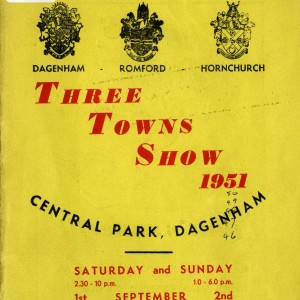 Dagenham Town Show Programme from 1951
