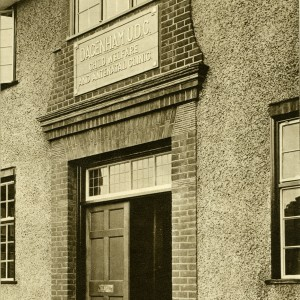 Front entrance of Dagenham Child Welfare and Antenatal Clinic in 1938