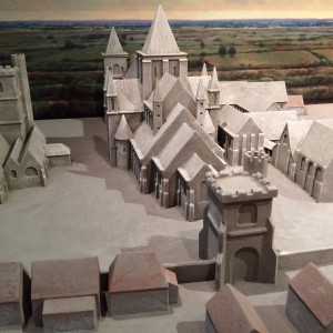 Model of Barking Abbey in the museum