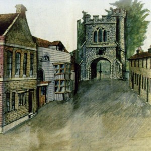 Watercolour of Church Path in Barking by William Frogley