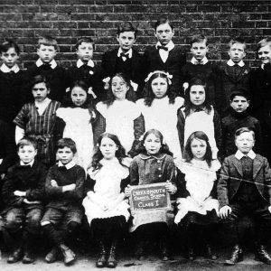 Pupils at Creekmouth School circa 1910