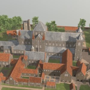 An image from the 3D model of Barking Abbey