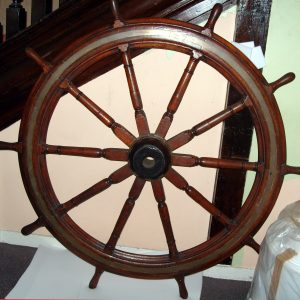 Wheel from The Duke, one of the lIttle Ships of Dunkirk