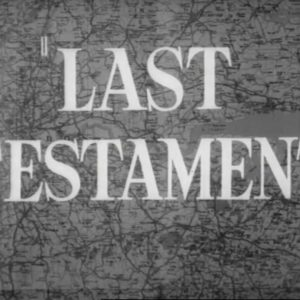 Opening title from the film Last Testament