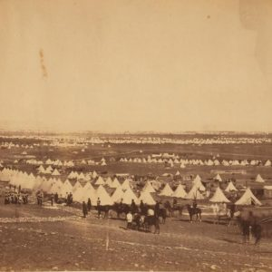 camp of the Thirty Third Regiment photographed by Roger Fenton