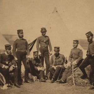 Officers in camp by Roger Fenton